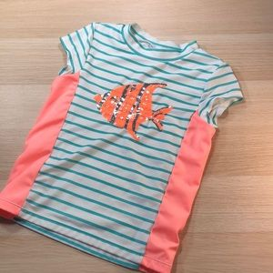 Girls striped bathing suit top